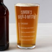 Personalised Beer-o-Meter Pint Glass P0107E06